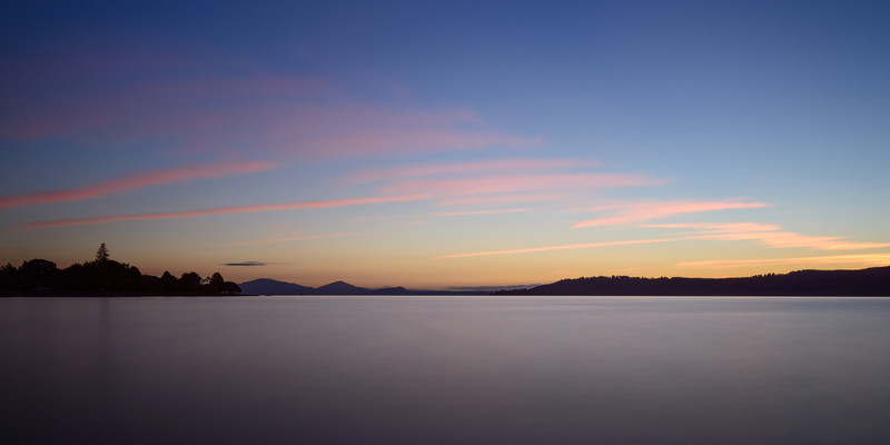 Lake Taupo Peaceful Sunset
