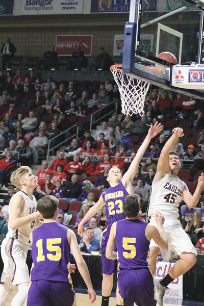 Stefan Simmons hits the lay up. Photo by Anne Berleant