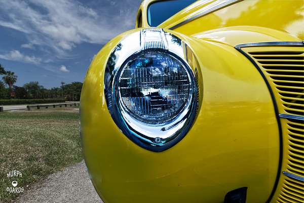 1940 Yellow Ford Coupe