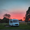 Motorhome against a rich Sunset