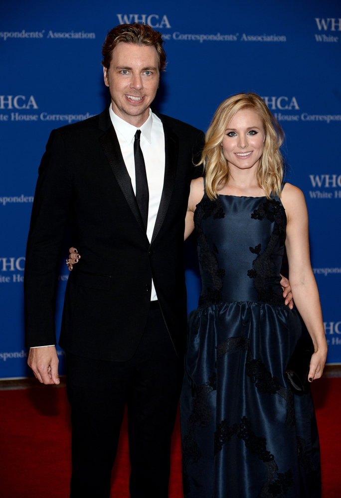 . Dax Shepard and Kristen Bell attend the 100th Annual White House Correspondents\' Association Dinner at the Washington Hilton on May 3, 2014 in Washington, DC.  (Photo by Dimitrios Kambouris/Getty Images)
