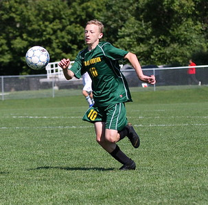 BBA JV Boys Gold Soccer vs Woodstock photos by Gary Baker