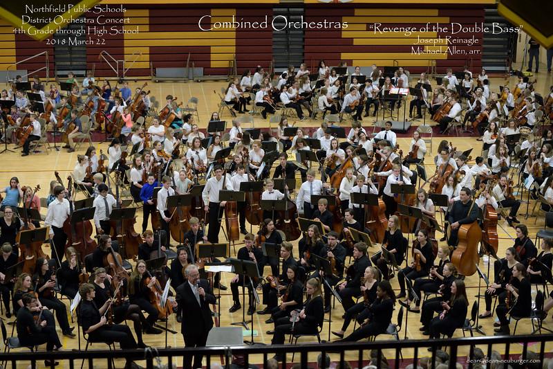 Orchestra Concert, Northfield Public Schools District, 2018 March 22; Natalie Kruger, Heather Olivier, Paul Ousley, directors; Northfield High School, Northfield, Minnesota USA.