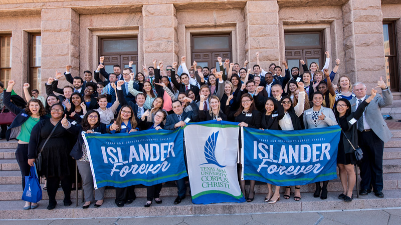 Students visit the Capitol Building in Austin, Texas and represent the Island University during Day At The Capitol.