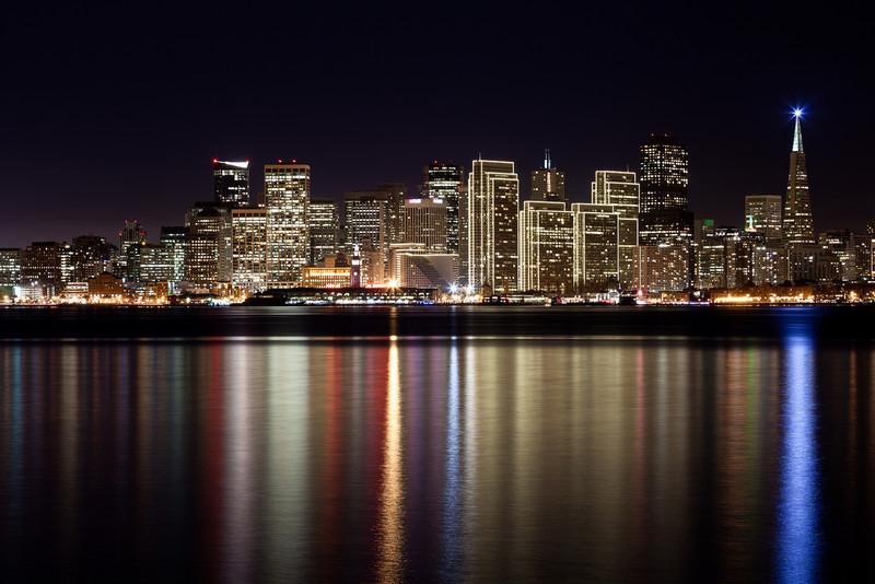 The San Francisco skyline, as viewed from Treasure Island