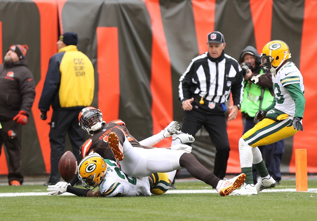 . Tim Phillis - The News-Herald Photos from the Browns-Packers game on Dec. 10, 2017, at FirstEnergy Staduim.