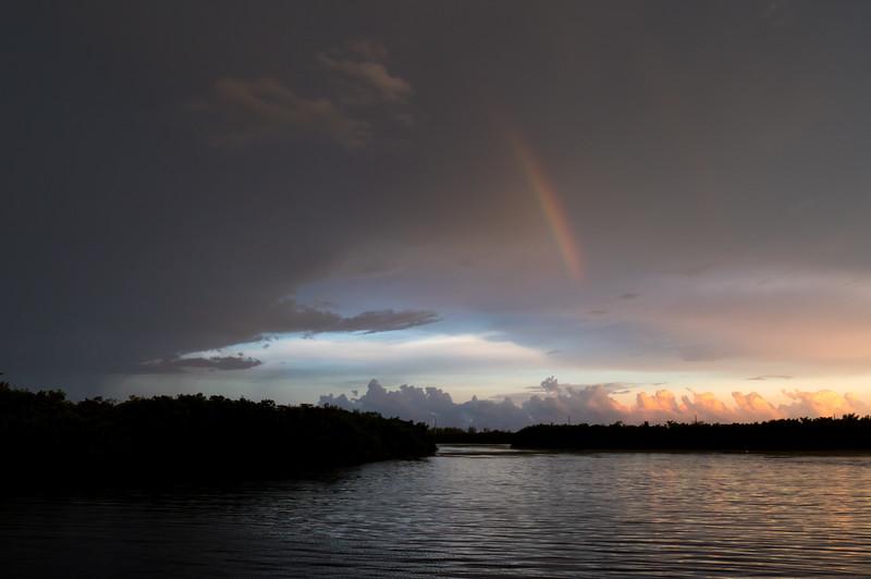 stormy sky rainbow