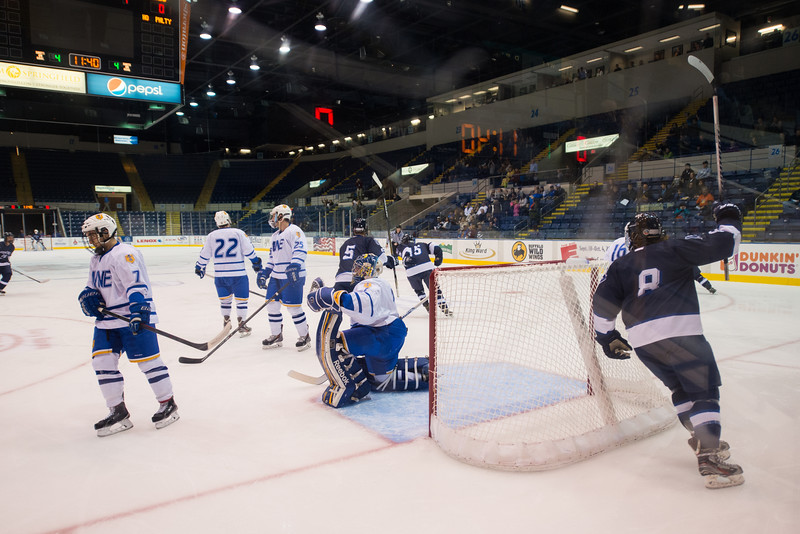 The 7th Annual Falcon's Cup between Westfield State University and Western New England at the Mass mutual Center in Springfield, MA