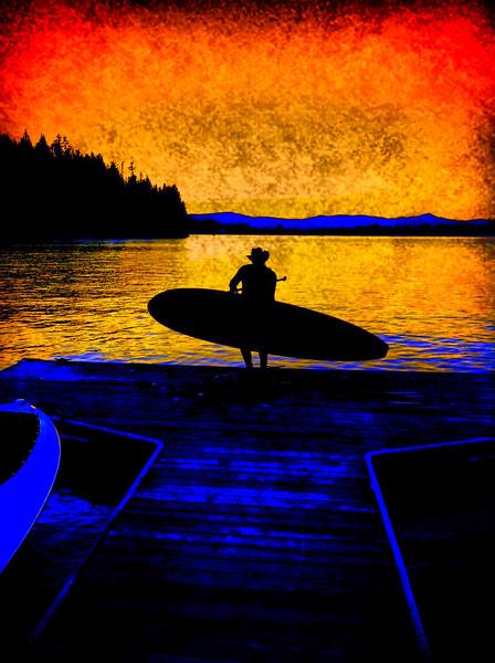 Stand Up Paddle, Liberty Lake, Washington