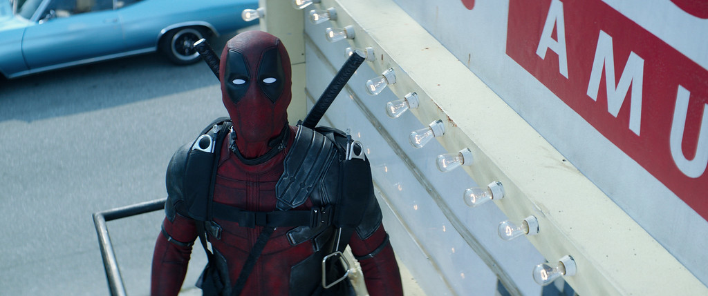 ". Ryan Reynolds stars as Deadpool in ""Deadpool 2,\"" in theaters May 18. (Courtesy Twentieth Century Fox)"