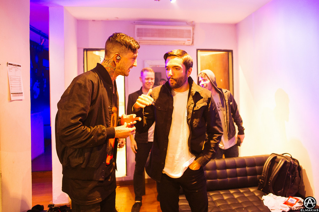 Austin Carlile of Of Mice & Men and Jeremy McKinnon of A Day To Remember by Adam Elmakias
