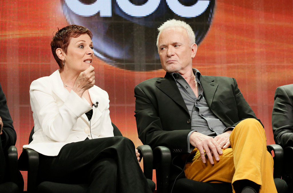 ". Jane Elliot and Anthony Geary attend the Disney ABC panel for ""General Hosptial\"" at the Beverly Hilton Hotel on Thursday, July 26, 2012, in Beverly Hills, Calif. (Photo by Todd Williamson/Invision/AP)"