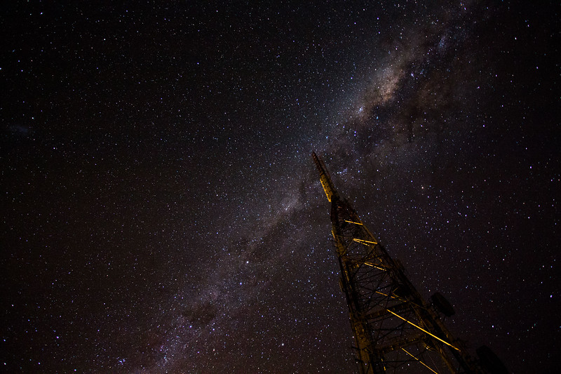 The Milky Way from the summit of Mt. Cargill