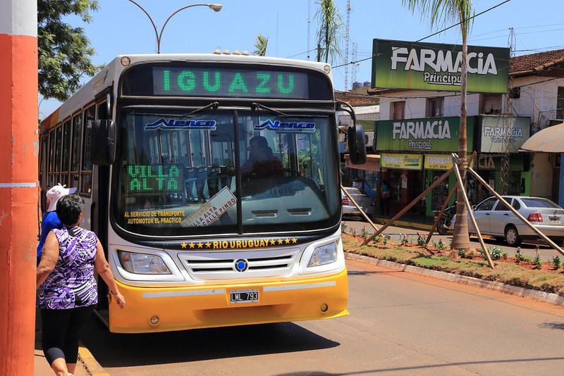 main street Puerto Iguazú, Argentina