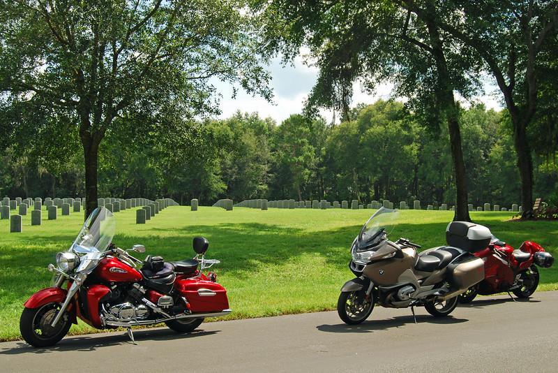 Motorcycles at Florida National Cemetery.jpg