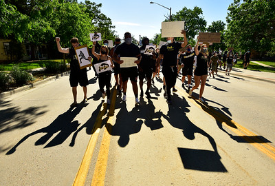 "Photos: CU Boulder Athletes and Students ""Black Lives Matter"" Protest and March in Boulder"