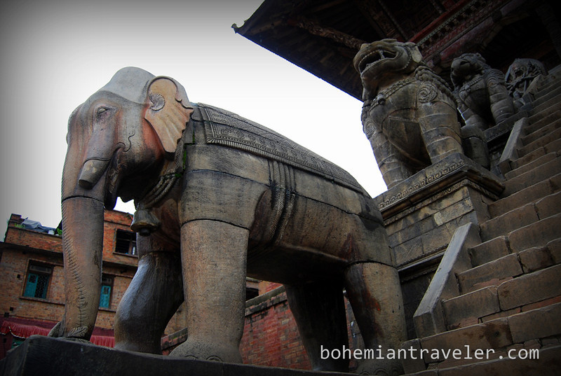 Elephants of Taumadhi Tole.