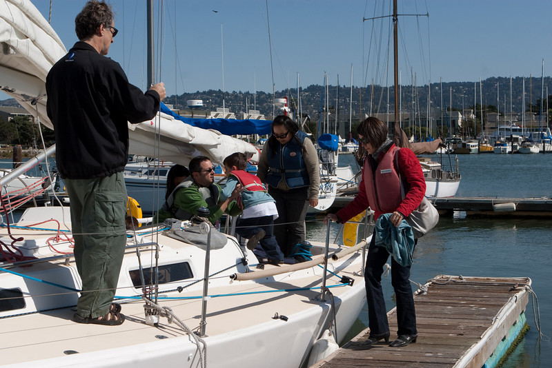 Boaters of all ages joined in.