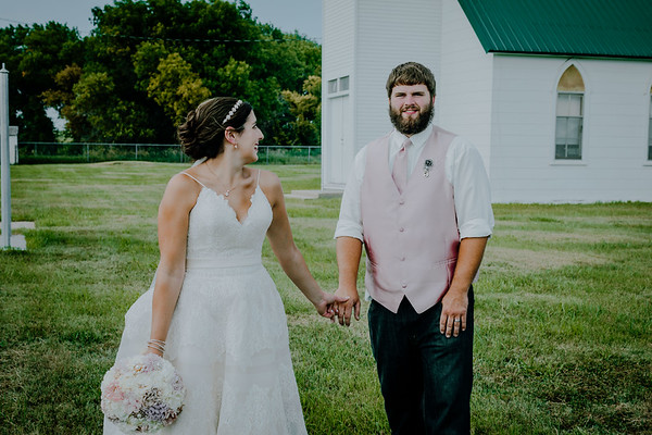 Mr & Mrs At Country Church