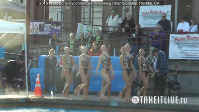 E13 - Junior Free Team - 2015 Western Zone Synchronized Swimming Championships - Livesynchro Powered by: Takeitlive.tv