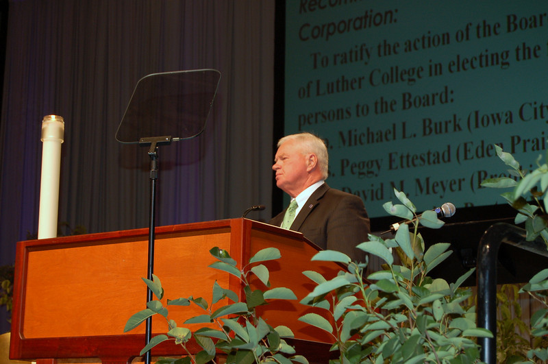 Richard Torgerson is the president of Luther College in Decorah, Ia.