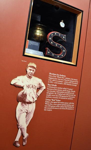 """""""Shoeless"""" Joe Jackson Display at  the National Baseball Hall of Fame & Museum"""