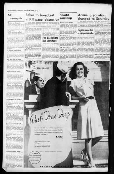 Daily Trojan, Vol. 36, No. 135, June 01, 1945