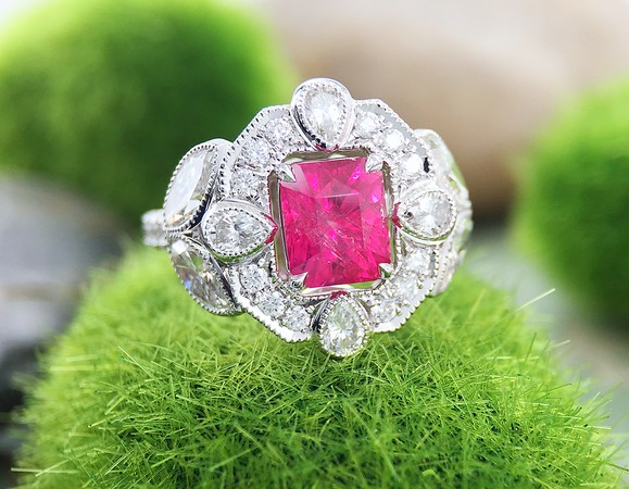 """The """"Karen"""" Halo - Featuring a 1.59ct Ruby Center"""