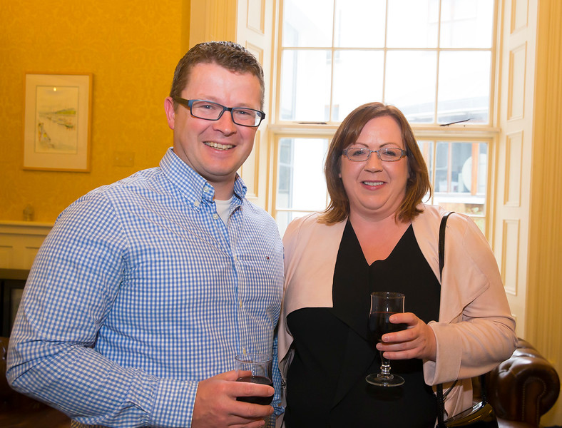 18/05/2016. Irish Accounting & Finance Accociation Annual Conference at WIT (Waterford Institute of Technology). Pictured at The Mayor's reception are Kieron Gallery and Ann Tynan. Picture: Patrick Browne