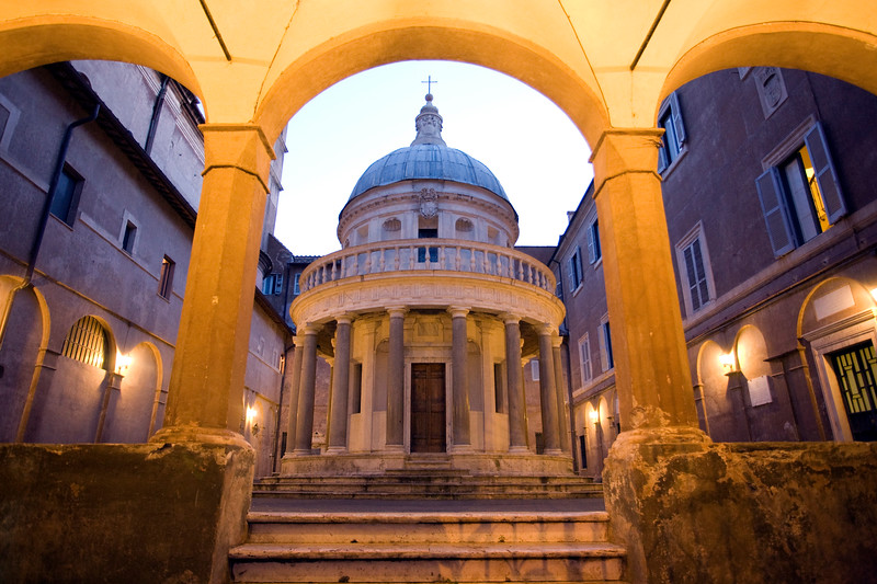 The tempietto of San Pietro in Montorio, by Bramante, Rome.