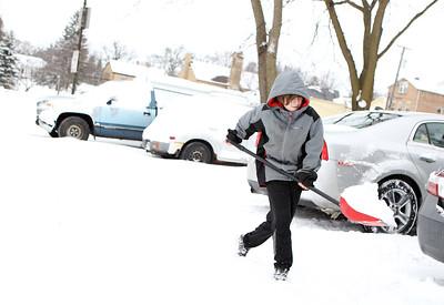 Snow in Geneva and Elburn