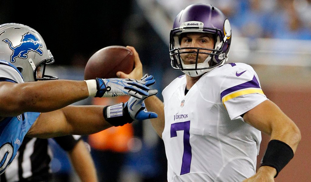 """. <p>4. (tie) CHRISTIAN PONDER <p>Calls for his benching especially strong among Vikings fans who have never seen Matt Cassel play. (1) <p><b><a href=\'http://www.twincities.com/sports/ci_24045969/tom-powers-relying-ponder-make-something-happen-is\' target=\""""_blank\""""> HUH?</a></b> <p>    (AP Photo/Duane Burleson)"""