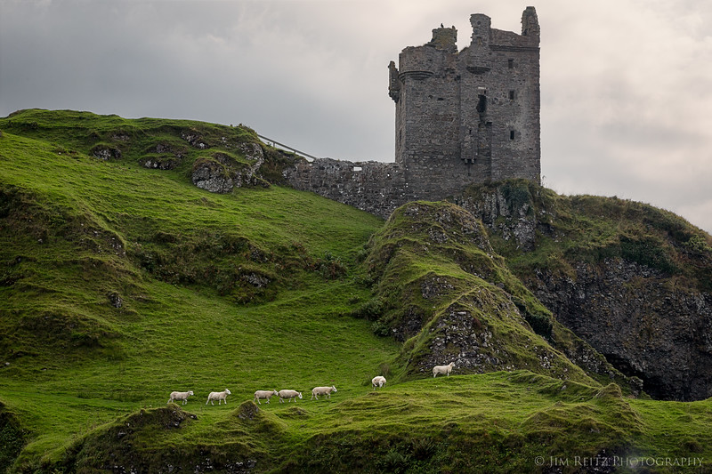 Gylen Castle on the lush green Isle of Kerrera, Scotland