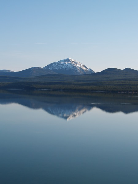This was early in the morning and crystal clear in the Yukon. Teslin Mountain, Yukon Territory, Canada - Alaska Highway, May 2007.