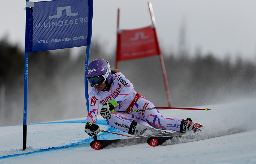 . BEAVER CREEK, CO - FEBRUARY 12: Tessa Worley of France competes in the second run of the Ladies Giant Slalom event at the FIS Alpine World Ski Championships in Beaver Creek, CO. February 12, 2015. (Photo By Helen H. Richardson/The Denver Post)
