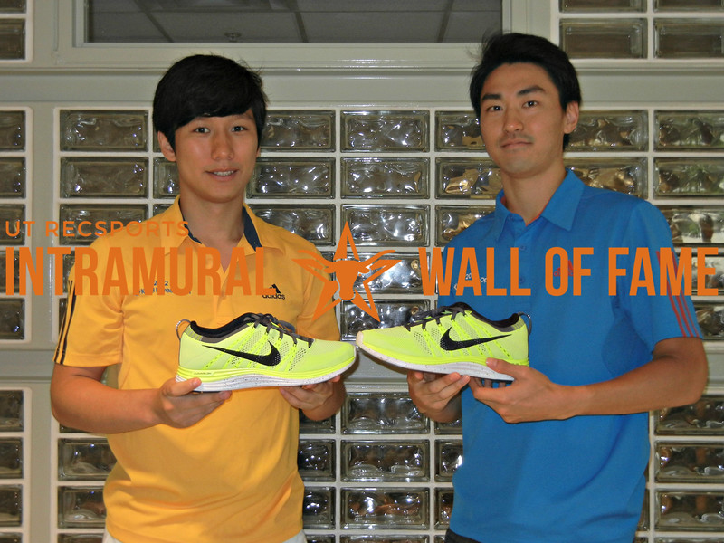 SPRING TENNIS Men's A Doubles Champion Lawrence Choi and Heewon Kim