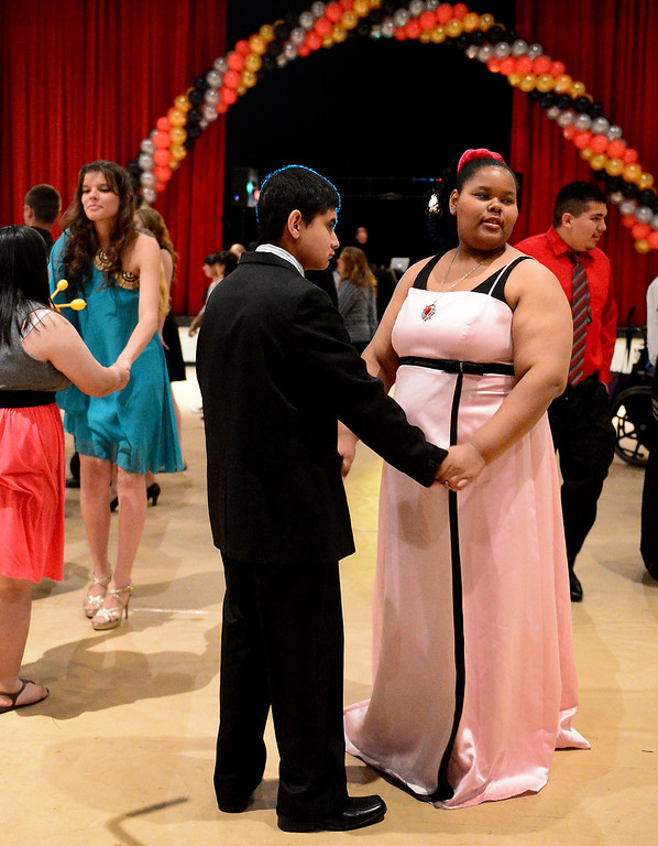 . Glendora High School hosts the Best Buddies Prom for high school students with special needs from across the San Gabriel Valley Friday night, April 19, 2013 at the Glendora campus. (SGVN/Staff Photo by Sarah Reingewirtz)