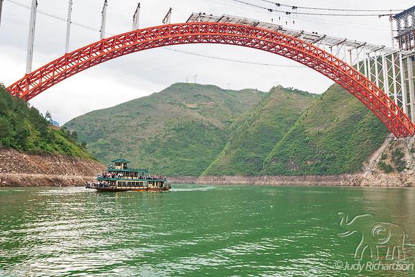 Boats on Yangtze River-Three Gorges Dam Area