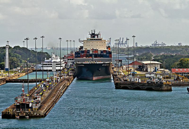 NYK Delphinus Leaving Gatun Lock