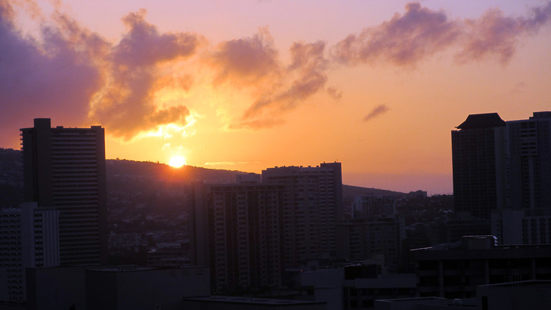 Sunrises and Sunsets Hawaii March 2012