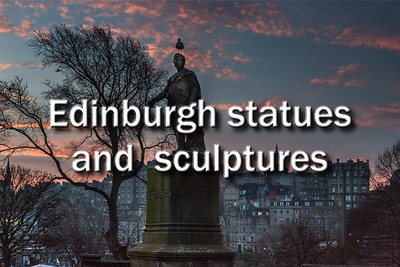 Edinburgh statues and sculptures