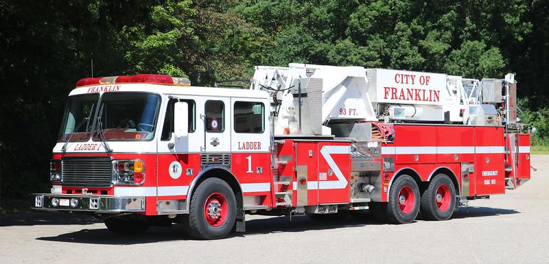 Ladder 1.  1998 Am LaFrance Eagle   1500 / 300 / 93'