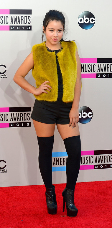 . Cierra Ramirez arrives to the American Music Awards  at the Nokia Theatre in Los Angeles, California on Sunday November 24, 2013 (Photo by Andy Holzman / Los Angeles Daily News)