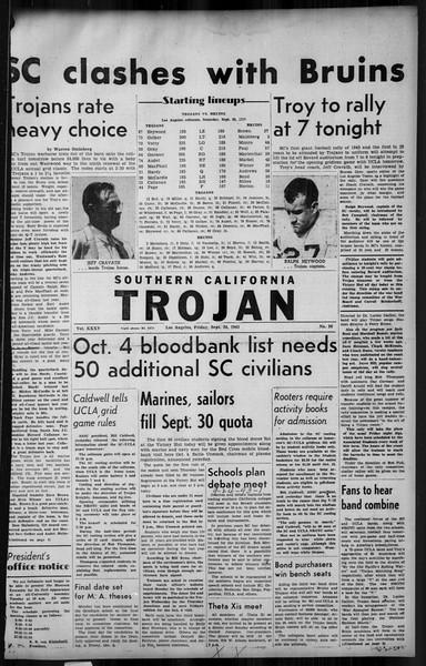 Southern California Trojan, Vol. 35, No. 36, September 24, 1943