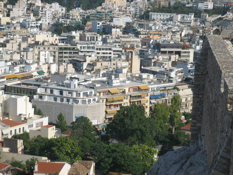 Somewhere in these buildings is our hostel, I forget which one it is though. Athens, Greece.