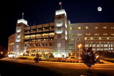 Virginia Tech At Night