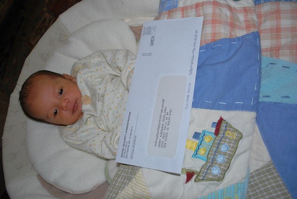 Baby Henry's First Mail