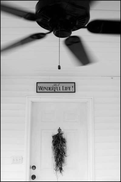 Front porch and a celling fan