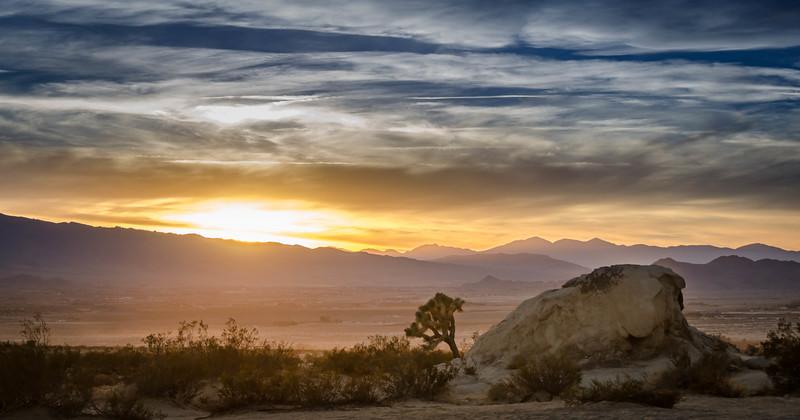 Sunset of Lucerne Valley, CA, USA