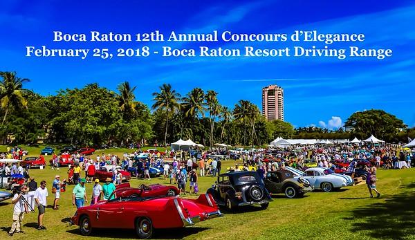 12th Annual Concours d'Elegance - Feb.25.2018 - Boca Resort, Boca Raton, FL 33432